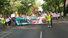 Un grupo de personas en la marcha