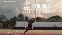 Un atleta paralimpico corriendo